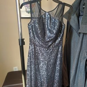 Size 2 sequin gown, gradient gray to purple
